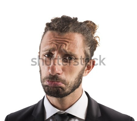 Sad businessman Stock photo © alphaspirit