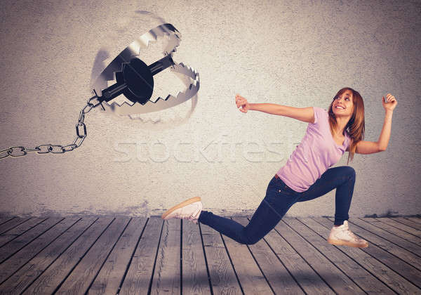 Stock photo: Chased by a trap