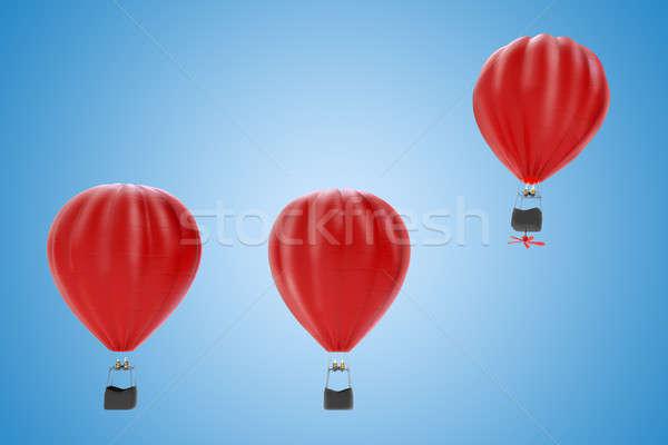 Fortalecimento sucesso 3D balão de ar quente alto Foto stock © alphaspirit