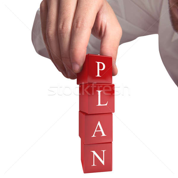 Building a plan 3D rendering Stock photo © alphaspirit