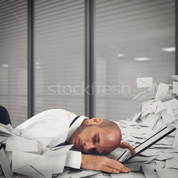 Buried by worksheets and spam Stock photo © alphaspirit