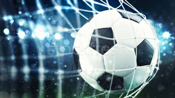 Futebol meta com 3D Foto stock © alphaspirit