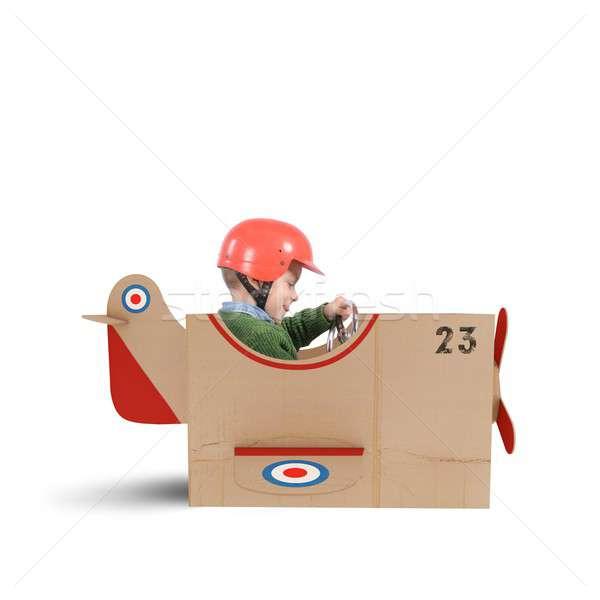 Plane of cardboard Stock photo © alphaspirit