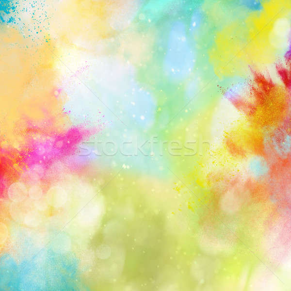 Rainbow poudre explosion brillant texture Photo stock © alphaspirit