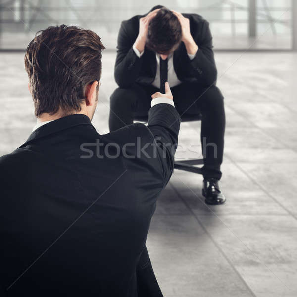 Stock photo: Fired afraid employee