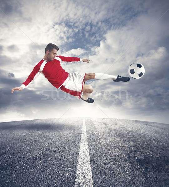 Footballer Stock photo © alphaspirit