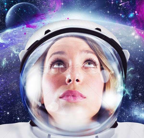 Woman astronaut Stock photo © alphaspirit