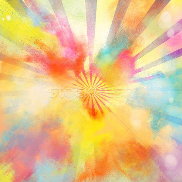 Farbenreich Burst hellen malen Regenbogen Stock foto © alphaspirit
