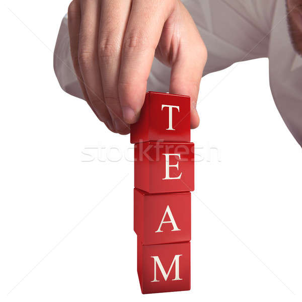 Building a team 3D Rendering Stock photo © alphaspirit