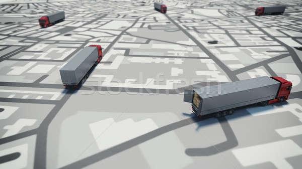GPS tracking. 3D Rendering Stock photo © alphaspirit