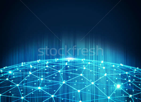 System of interconnection of network Stock photo © alphaspirit