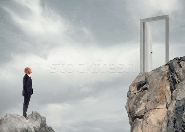 Concept of ambition in business Stock photo © alphaspirit