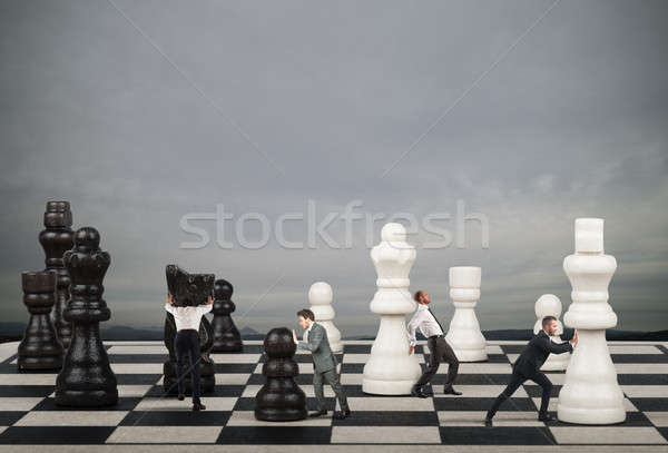 Strategy and tactics in business Stock photo © alphaspirit