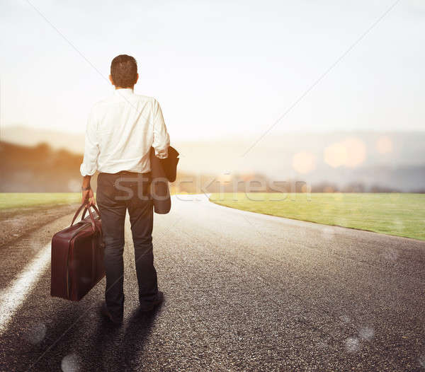 Businessman is on his way out Stock photo © alphaspirit