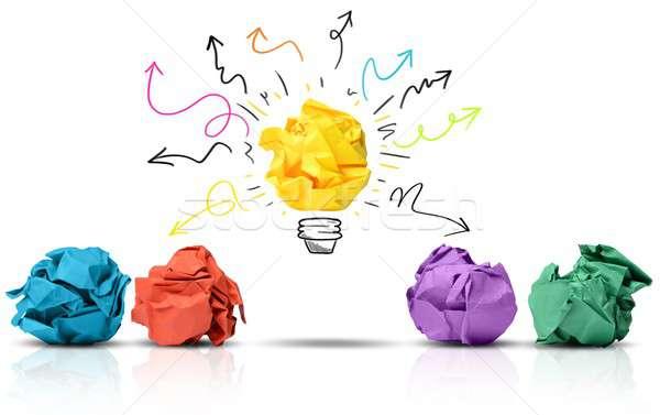 Papír ötlet nagyszerű konzerv gyártmány különbség Stock fotó © alphaspirit