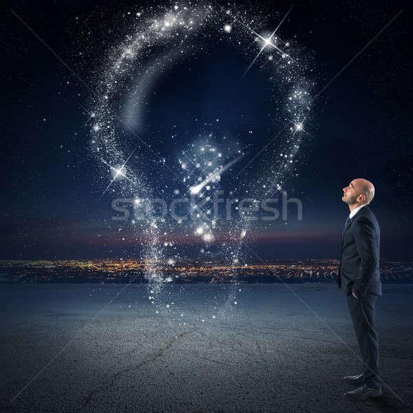 Brillante idea estrellas empresario Foto stock © alphaspirit