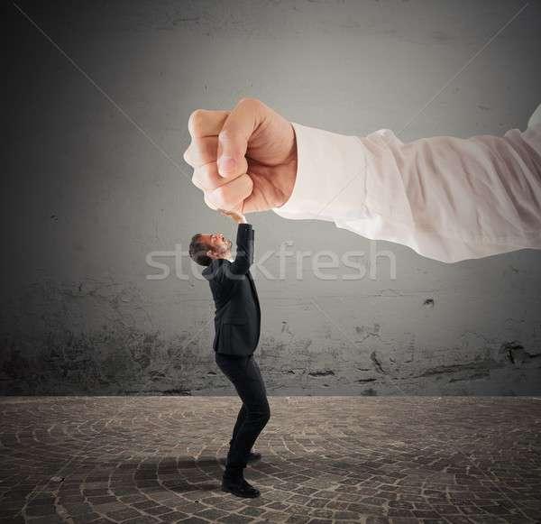 Hevig baas klein zakenman groot man Stockfoto © alphaspirit