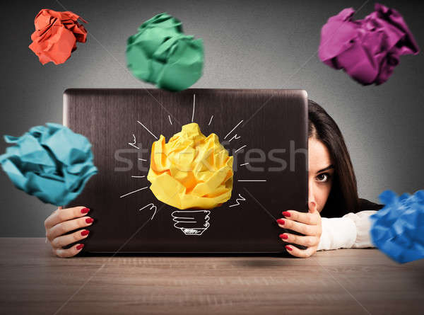 Attack of paper balls at office Stock photo © alphaspirit