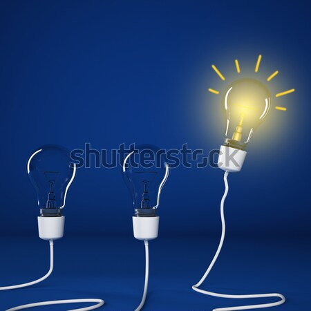 Successful and intelligent idea 3D Rendering Stock photo © alphaspirit