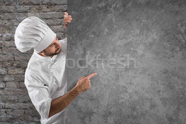 Chef menu Stock photo © alphaspirit