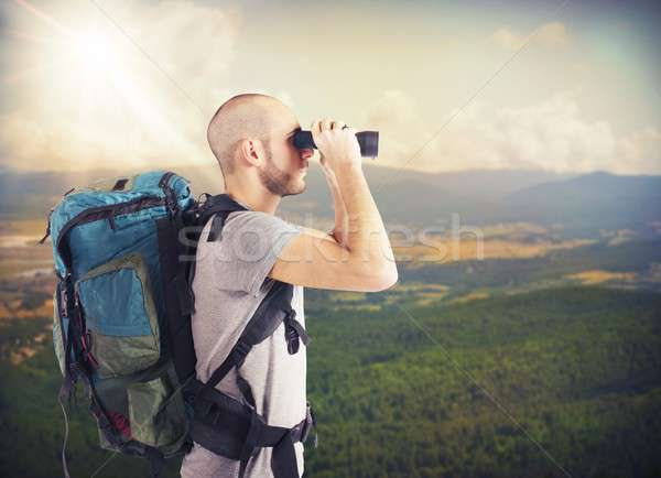Explorer looks view Stock photo © alphaspirit