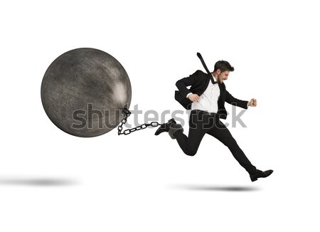 Weight of disadvantage Stock photo © alphaspirit