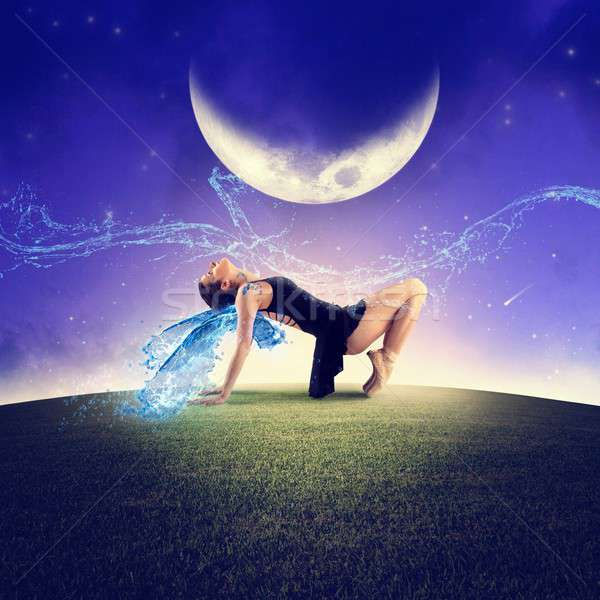 Dancing under the moon Stock photo © alphaspirit
