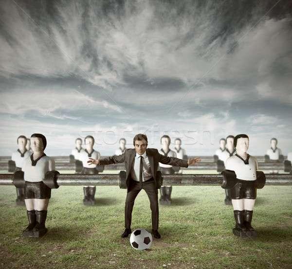 équipe commerciale attaquer vert domaine affaires travaux Photo stock © alphaspirit