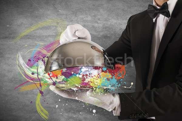 Kreatív első osztály szolgáltatás színes munka fém Stock fotó © alphaspirit