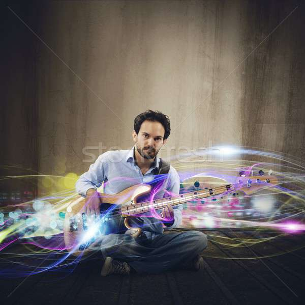 Stock photo: Electric guitar  effect