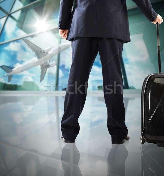 Stock photo: Airplane taking off