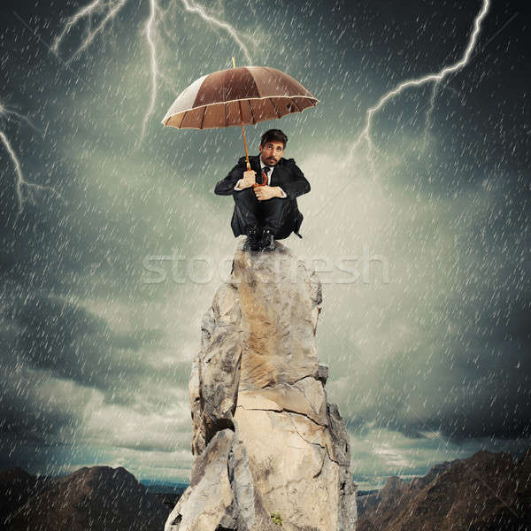 Lonely and desperate businessman Stock photo © alphaspirit