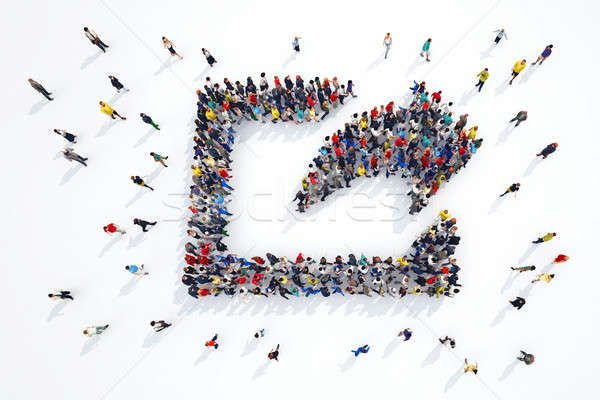3D renderelt kép emberek üzlet internet tömeg Stock fotó © alphaspirit