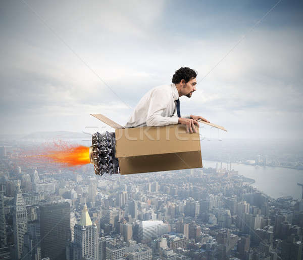 Determined and creative businessman Stock photo © alphaspirit