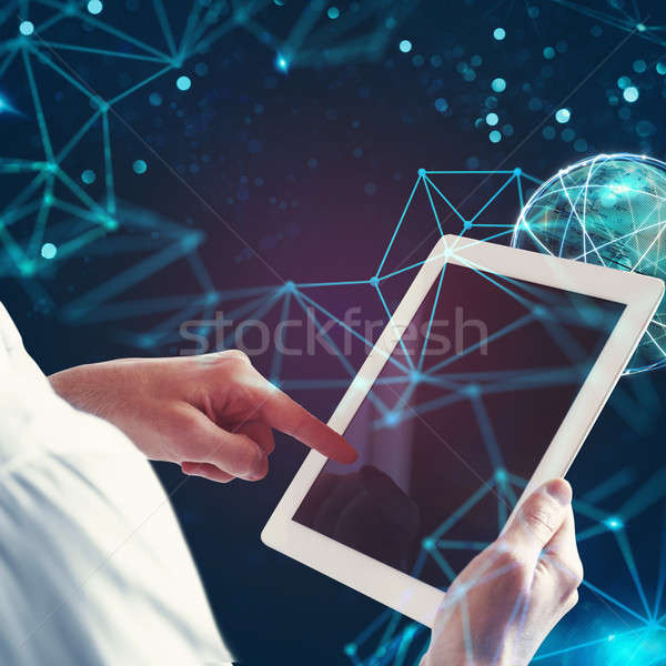 Stock photo: Concept of global internet connection network