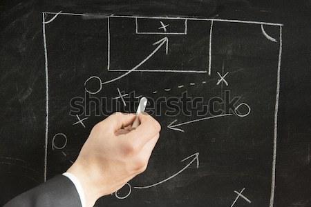 Calcio strategia schema lavagna business sport Foto d'archivio © alphaspirit