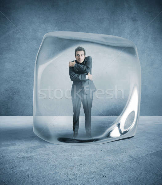 Frozen businessman Stock photo © alphaspirit