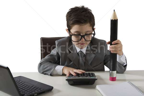 Successo  of a young businessman Stock photo © alphaspirit
