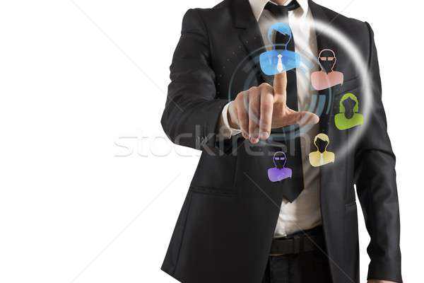 Social Network Interface Stock photo © alphaspirit