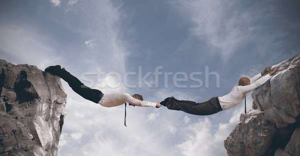 Business bridge. Concept of partnership Stock photo © alphaspirit