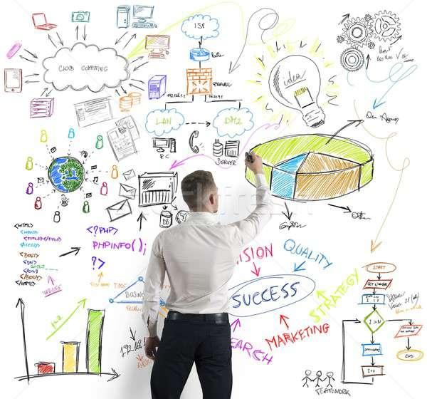 Modern business concept Stock photo © alphaspirit