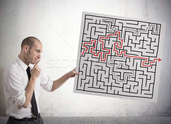 Solution for the maze Stock photo © alphaspirit