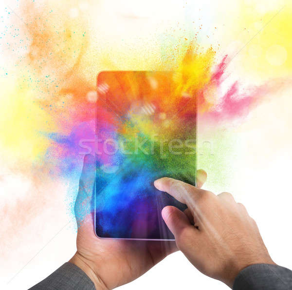 携帯電話 カラー バースト 明るい カラフル 電話 ストックフォト © alphaspirit