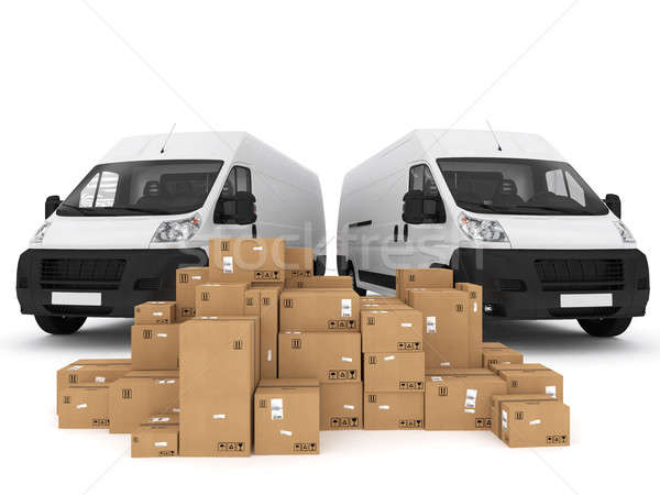 Prepare shipping. 3D Rendering Stock photo © alphaspirit