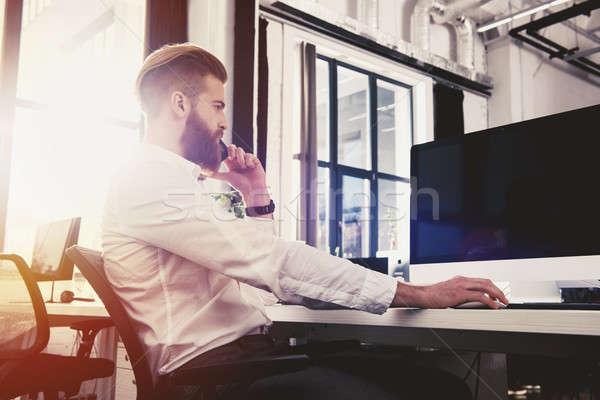 ビジネスマン オフィス インターネット ネットワーク スタートアップ 会社 ストックフォト © alphaspirit