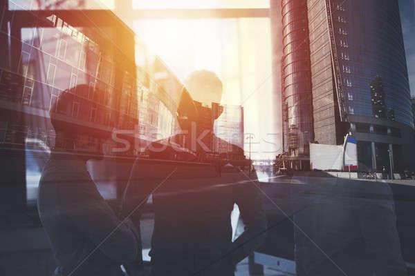 Gente de negocios trabajo junto oficina trabajo en equipo Foto stock © alphaspirit