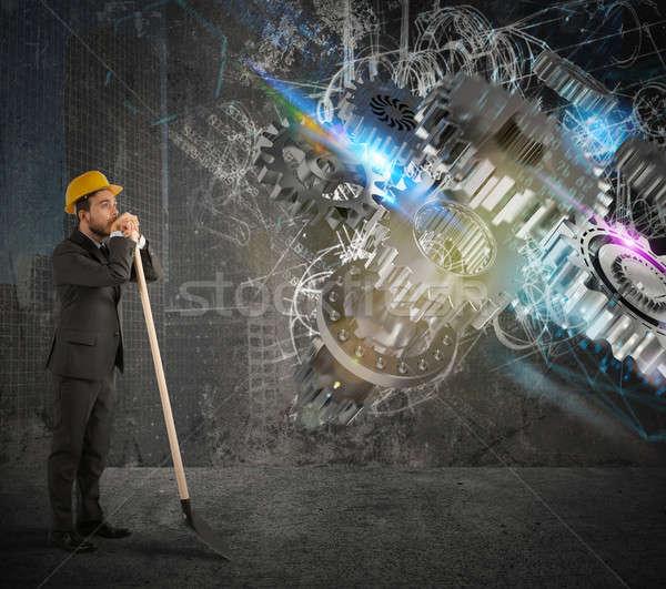 Build gear system Stock photo © alphaspirit