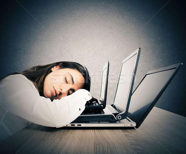 Tired of too much work Stock photo © alphaspirit