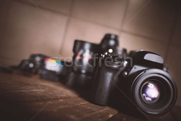 Profissional reflexo câmera tela tecnologia Foto stock © alphaspirit