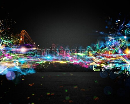 Electronic music effect Stock photo © alphaspirit